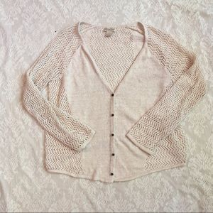 Lucky Brand open knit cardigan sweater