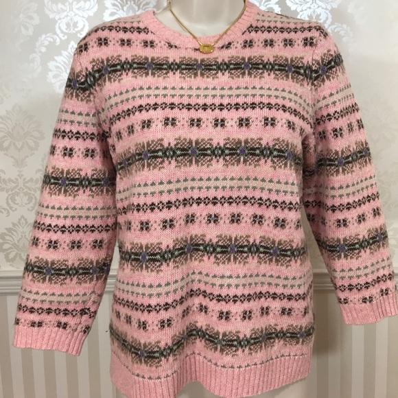 87% off Ralph Lauren Sweaters - Ralph Lauren Pink Fair Isle ...