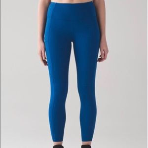 Lululemon Fast and Free 7/8 tights - Dark Royal