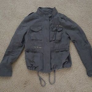 Free People studded military jacket size 10