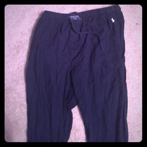 Ralph Lauren pajama sleep blue navy stretch pants