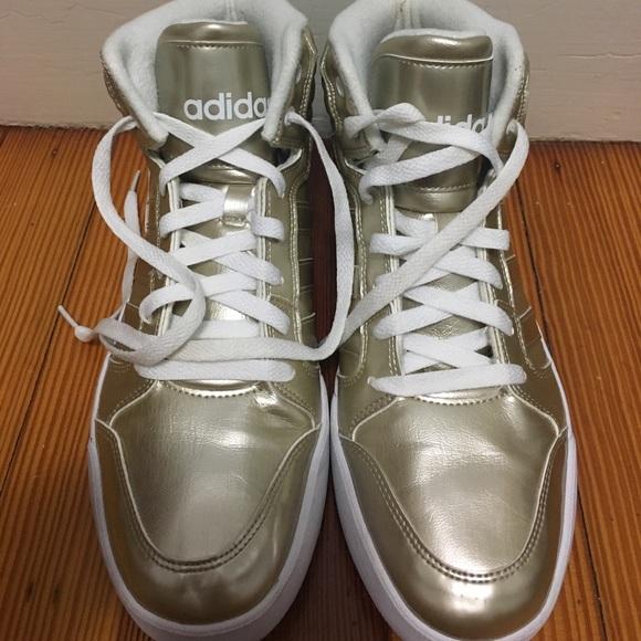 Adidas neo Gold High Tops poshmark