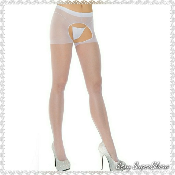 Authoritative message white crotchless pantyhose