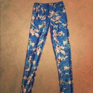 Pants - Batman super hero blue stretch comic leggings
