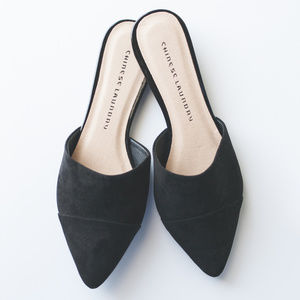 chic pointed black flats