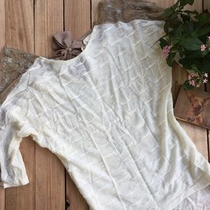 Anthropologie a'reve Cream and Lace Top