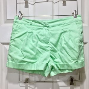 F21 mint tailored shorts