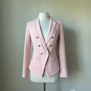 Trophy Double Breasted Pink peach Blazer Jacket