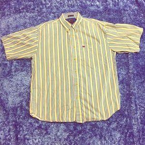 Vintage Bugle Boy Cotton Striped Button Down Shirt