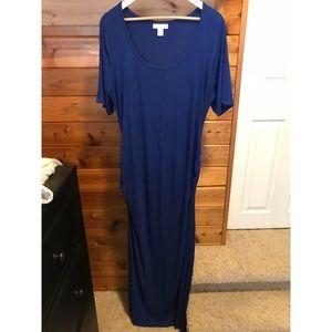 Maternity Short-Sleeve Maxi Dress