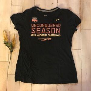 Nike Florida State FSU Unconquered Season Shirt