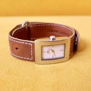Lacoste leather watch