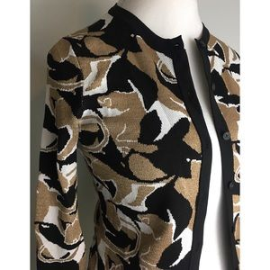 New Ann Taylor Abstract Jacquard Cardigan Sweater