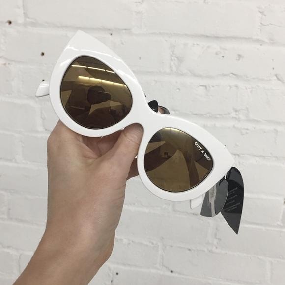 fac0d016f1bc2 NWT Quay Sunglasses JINX Quay x Shay Cat Eye White