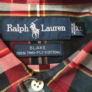 Ralph Lauren Blake Two Ply Plaid Shirt - Sz XL