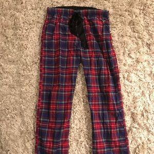 PINK Plaid Pajama Pants/Rollup Capris