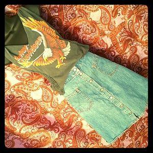 Vintage Jean Skirt