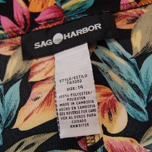 Sag Harbor Skirts - A-line Floral Lightweight Skirt