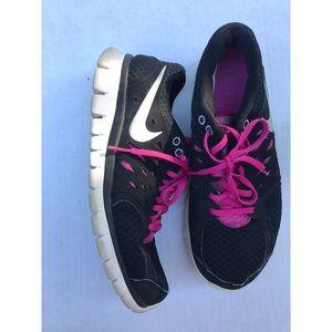 Women's Nike Black/Pink Sneakers- Size 10