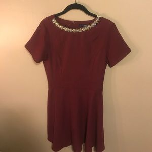 Jeweled Neck Dress