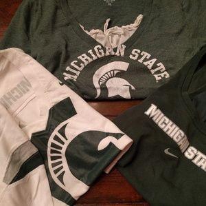 Michigan State MSU 3 shirts