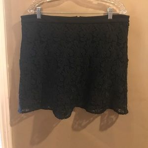 black crochet loft large skirt