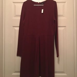 NWT madewell thick knit maroon fit and flare dress