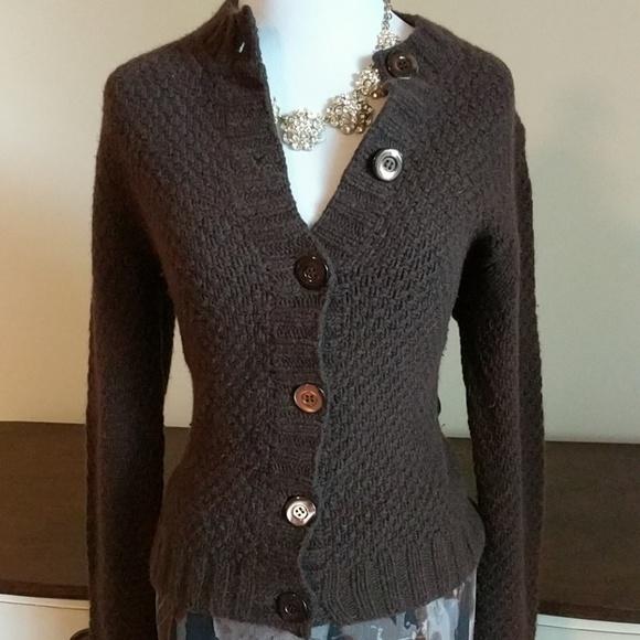 60% off J. Crew Sweaters - J. crew brown angora/cashmere cardigan ...