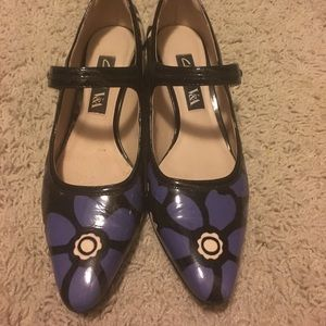 Clarks limited edition block heel pumps size 6