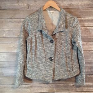 CAbi Marled Gray Sweater Jacket