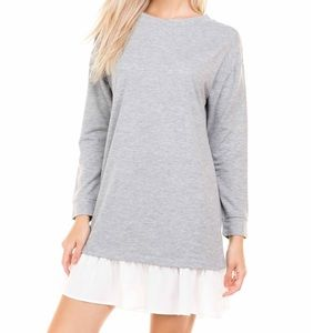 Lslv contrast Ruffle Detail French T