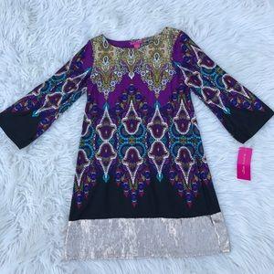 Sunny Leigh Bell Sleeve Sequin Cocktail Dress