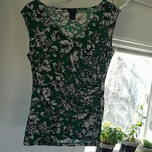 Ann Taylor Floral Sleeveless Blouse