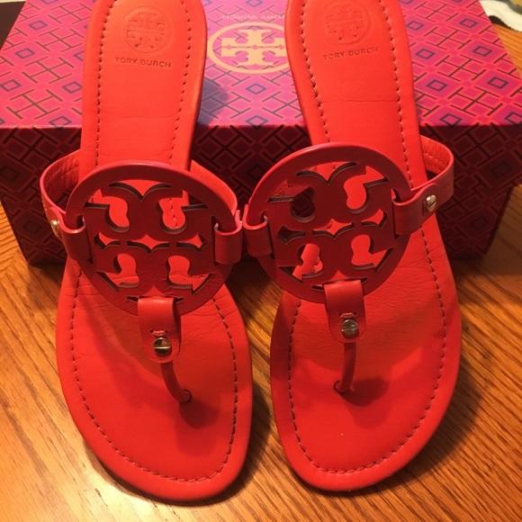 e99d54b59 Tory Burch Miller Poppy Red Sandals. M 59e92f766a583041f8006148