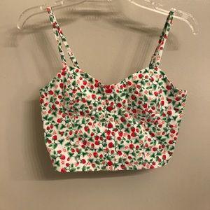 H&M strawberry crop top