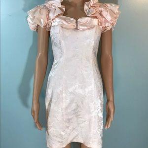 1980s prom dress
