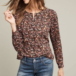 Anthropologie Maeve Orli Floral Button down blouse