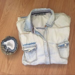 Zara Denim Button Down