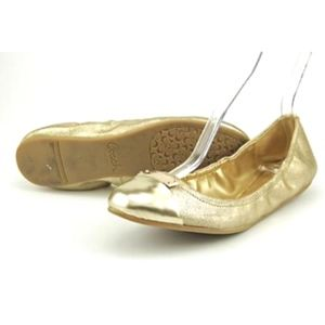 Coach 7 Darsi Gold Ballet Flats