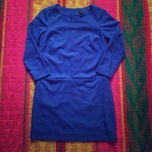 Blue J.CREW Wool Blend Sheath Dress Tunic sz 2