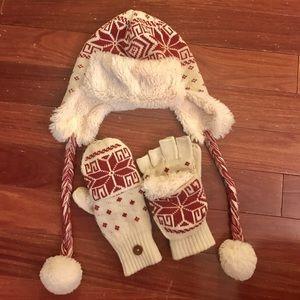 Muk Luk hat and mitten set
