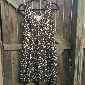 100% silk Banana Republic abstract print dress