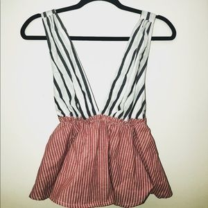 Free People Lily Stripe Top