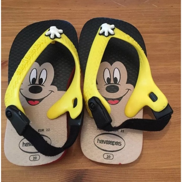 16e6b2b4e6c521 Havaianas Other - Havaianas Mickey Mouse Baby Flip Flops Size 6 C