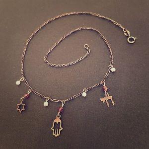 Star of David Hebrew Charm Necklace