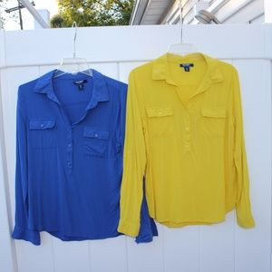Bundle of Two Old Navy Work Shirts
