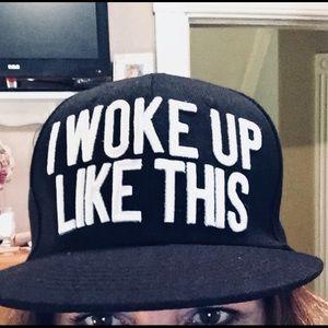 """I WOKE UP LIKE THIS"" Baseball cap"