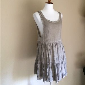 Brandy melville open back dress taupe gray XS to M