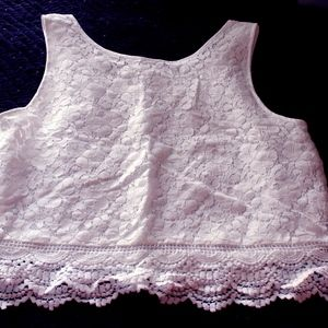 Light Cream Lace-covered Tank