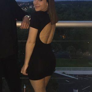 Nasty Gal Black T-shirt Dress